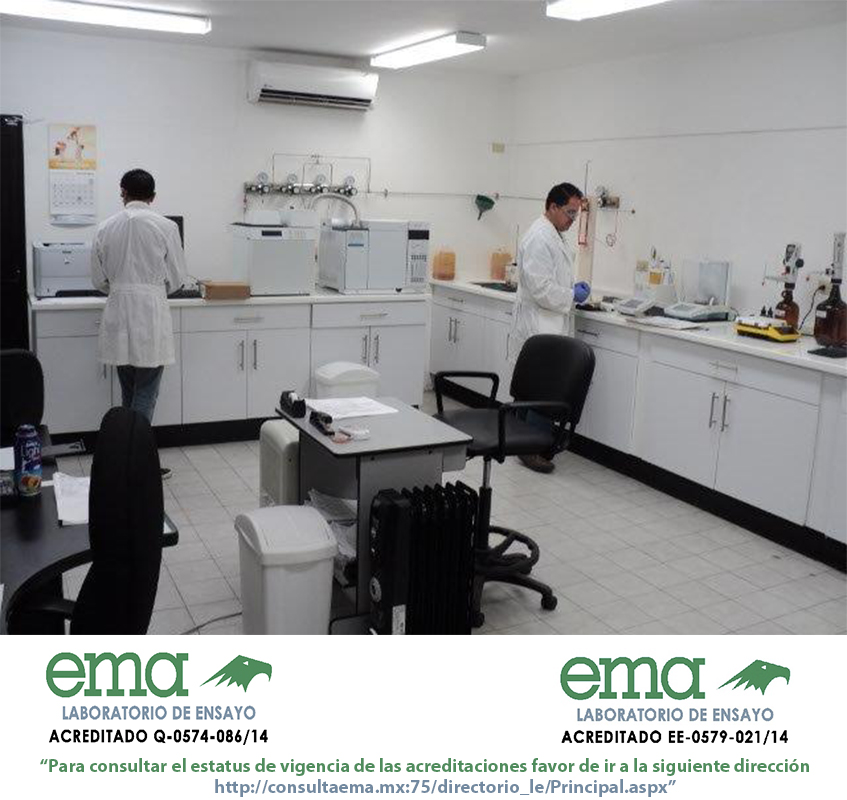 Laboratorio acreditado por ema para los ensayos indicados en el escrito como sigue: <br/>Acreditación No. Q-0574-086/14, vigente a partir del 2014-06-26 <br/>Acreditación No. EE-0579-021/14, vigente a partir del 2014-07-03